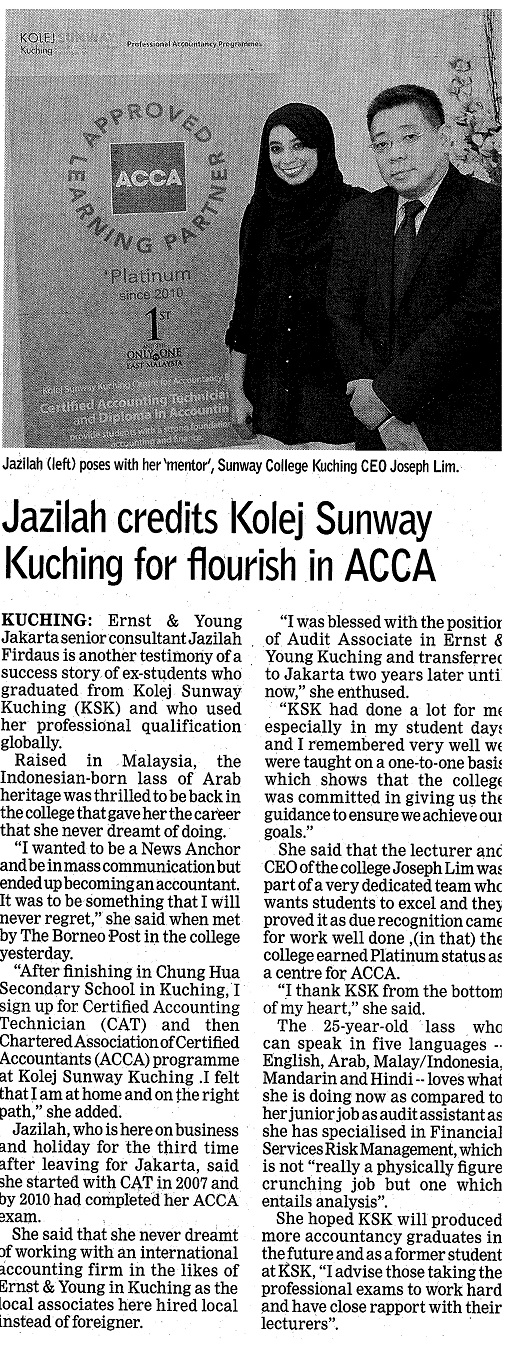 Success story: Jazilah (E&Y Jakarta senior consultant)