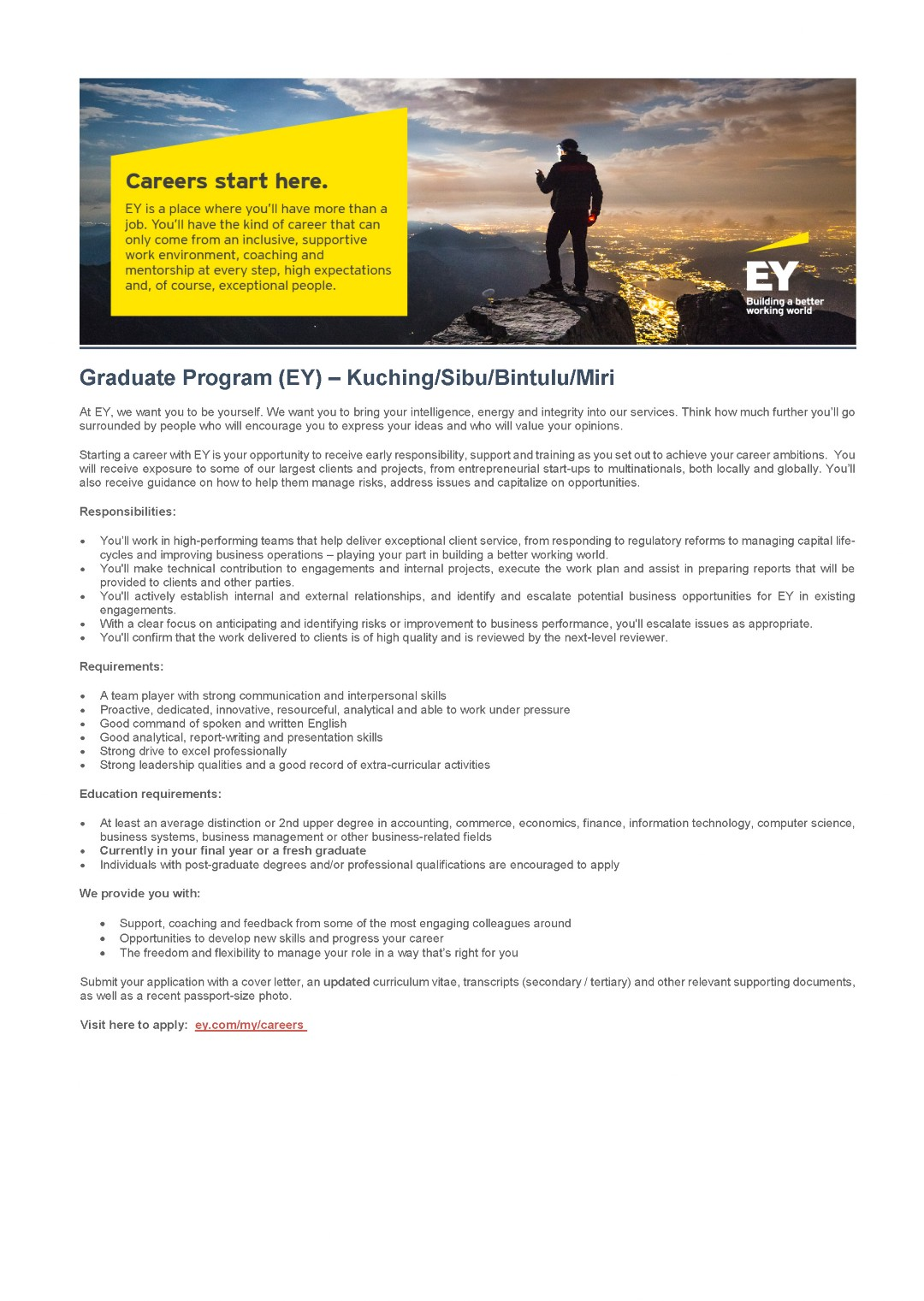Job Description - EY (Graduate Program)June 2018