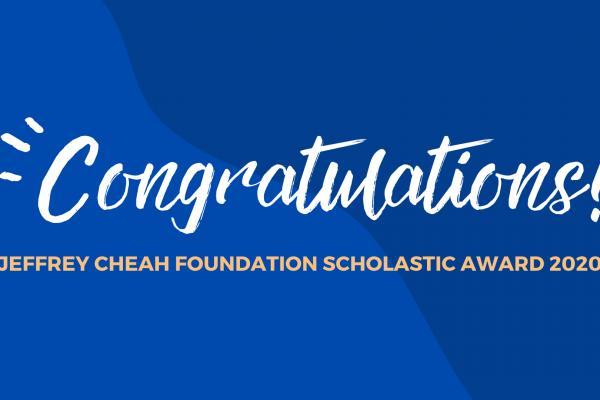 Jeffrey Cheah Foundation Scholastic Award 2020